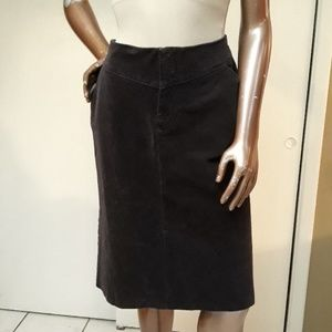 NWOT Banana Republic Chocolate Corduroy Skirt